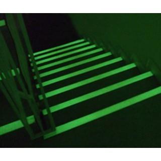 Bandă fotoluminescentă antiderapantă adezivă Aluminium-Epoxy